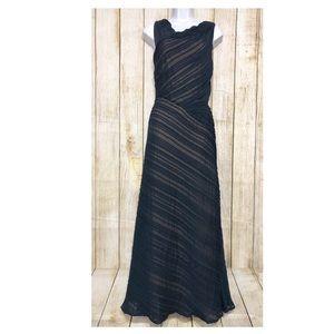Tadashi Shoji Dress Pleated Asymmetrical Neckline